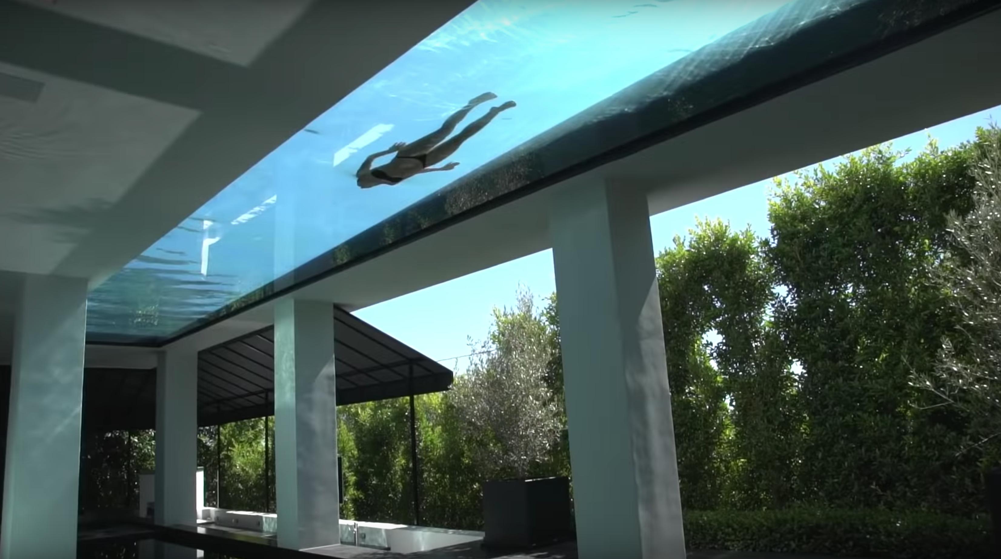 Glass Bottom Pool Sunset Strip House Los Angeles